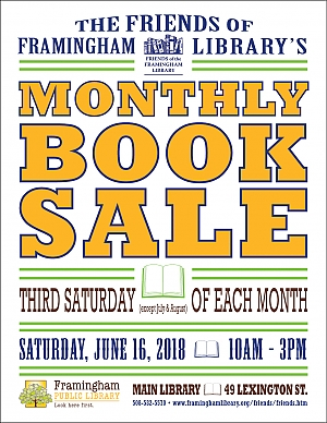 image of May book sale poster