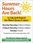 Check out our summer hours graphic