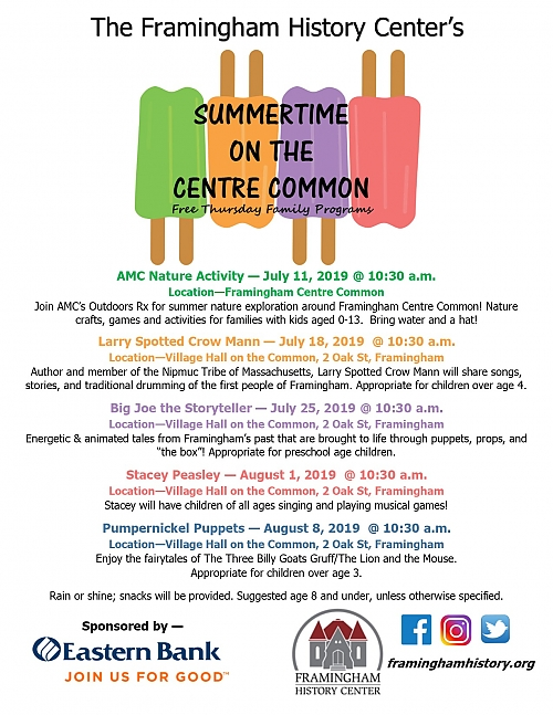 Framingham History Center's Summertime on the Centre programs