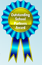 Outstanding School Partners Award ribbon