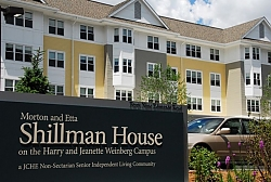 Photo of the Shillman House and sign out front