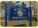 photo of Marian High School sign