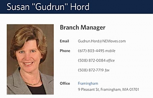 business card for Susan Gudrun Hord