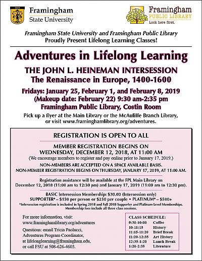 Poster of Adventures in Lifelong Learning: Intersession 2019