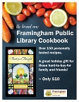 Announcing our new Framingham Public Library Cookbook! graphic