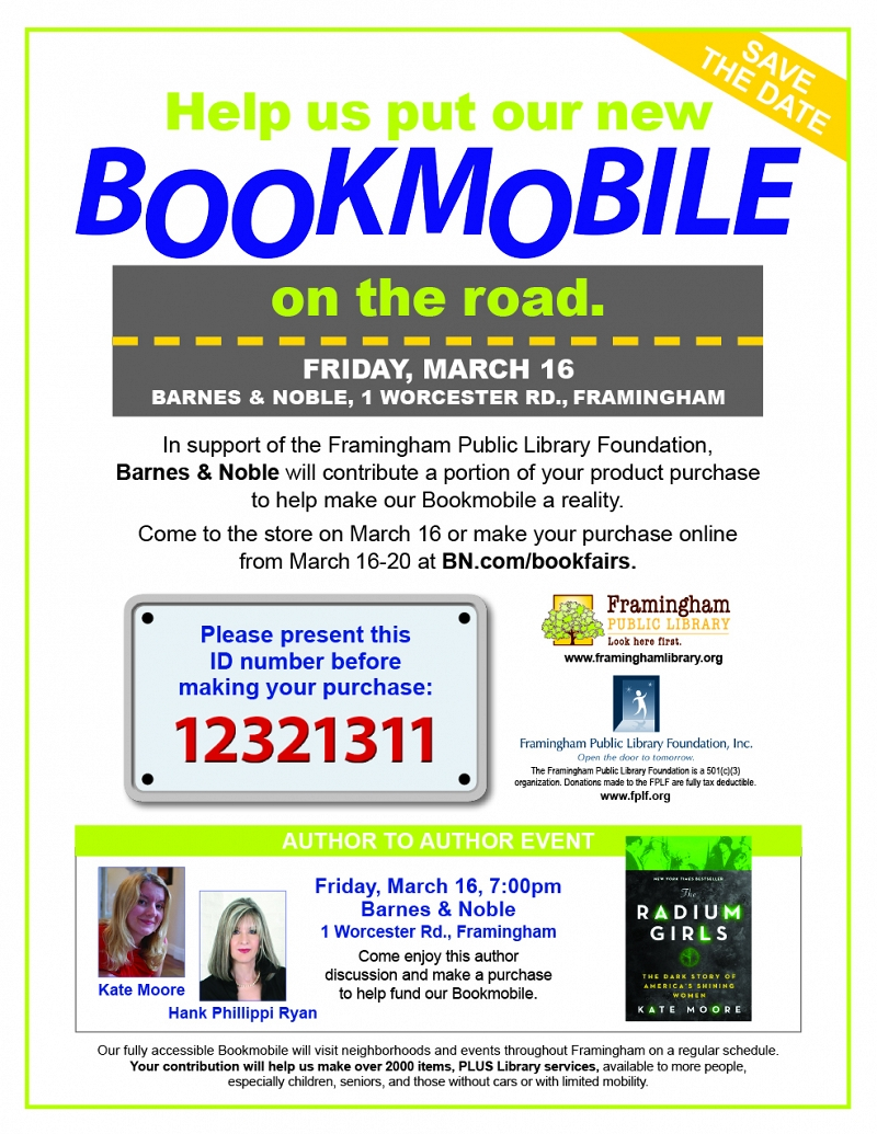 Special Fundraising Event at Barnes & Noble for the Bookmobile (extended through March 18!) thumbnail Photo