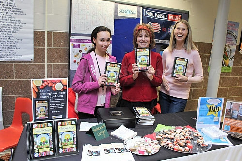 Homework Center staff selling FPL cookbook