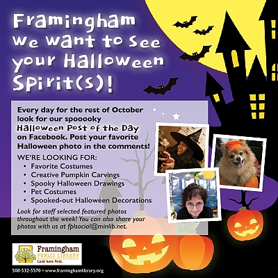 Framingham, We Want to See Your Halloween Spirits
