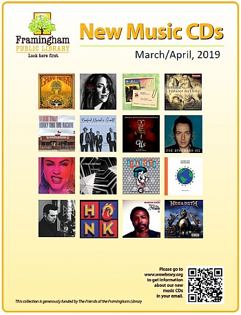 New Music CDs March and April 2019 poster
