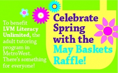 Celebrate Spring with the May Baskets Raffle to Benefit Literacy Unlimited graphic