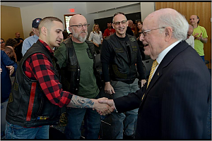 photo of veterans attending opening of Veterans Resource Center