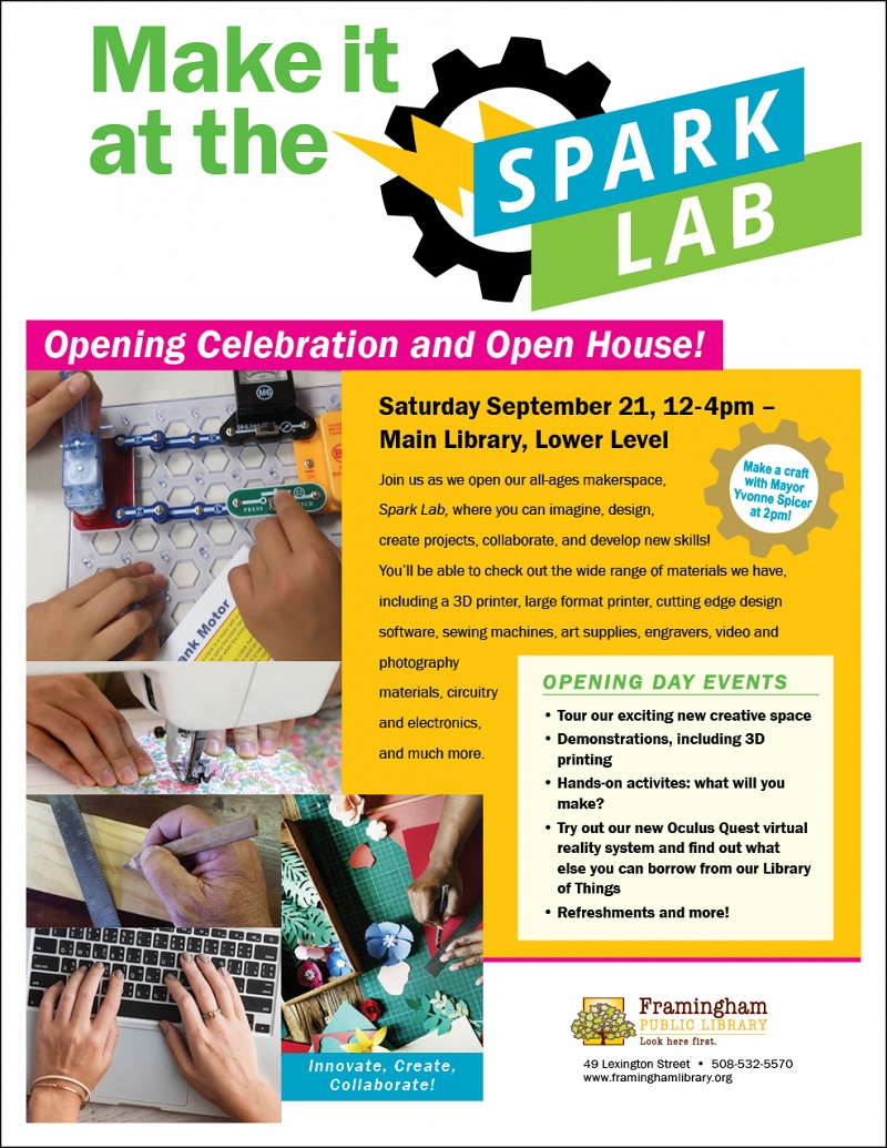 Spark Lab Makerspace: Opening Celebration and Open House thumbnail Photo