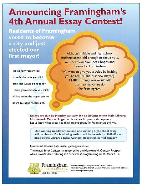 poster advertising essay contest