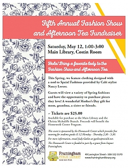 poster for 5th annual fashion show