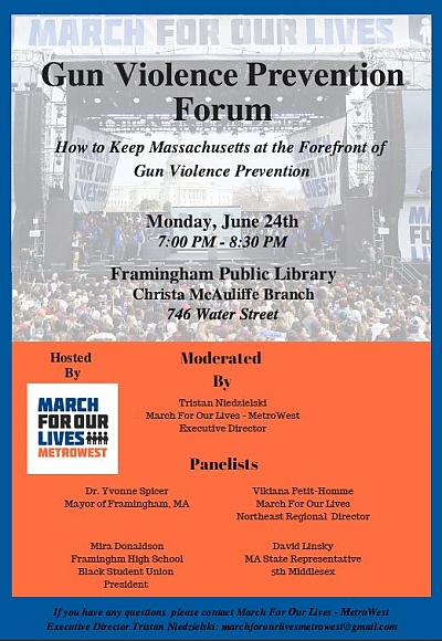 Gun Violence Prevention Forum poster