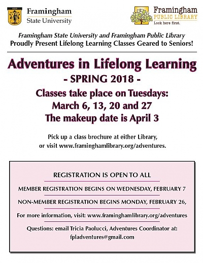 Poster of Adventures in Lifelong Learning dates