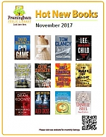 Poster of covers of books coming in November