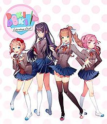 Doki-Doki Literature Club retail art.