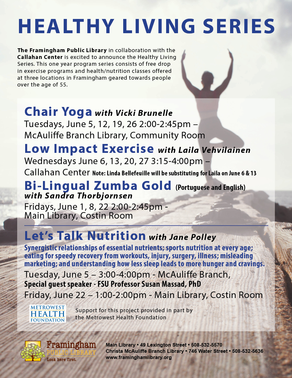poster of Healthy Living Series, June 2018