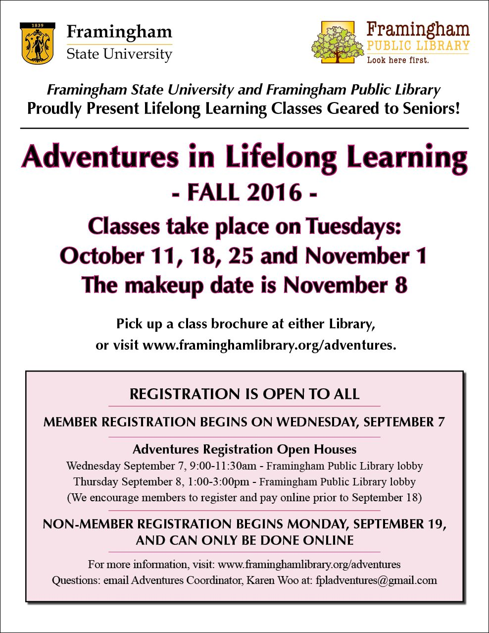 Adventures in Lifelong Learning graphic