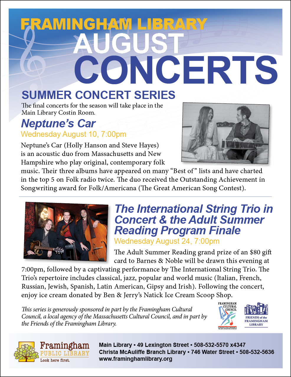 The International String Trio in Concert graphic