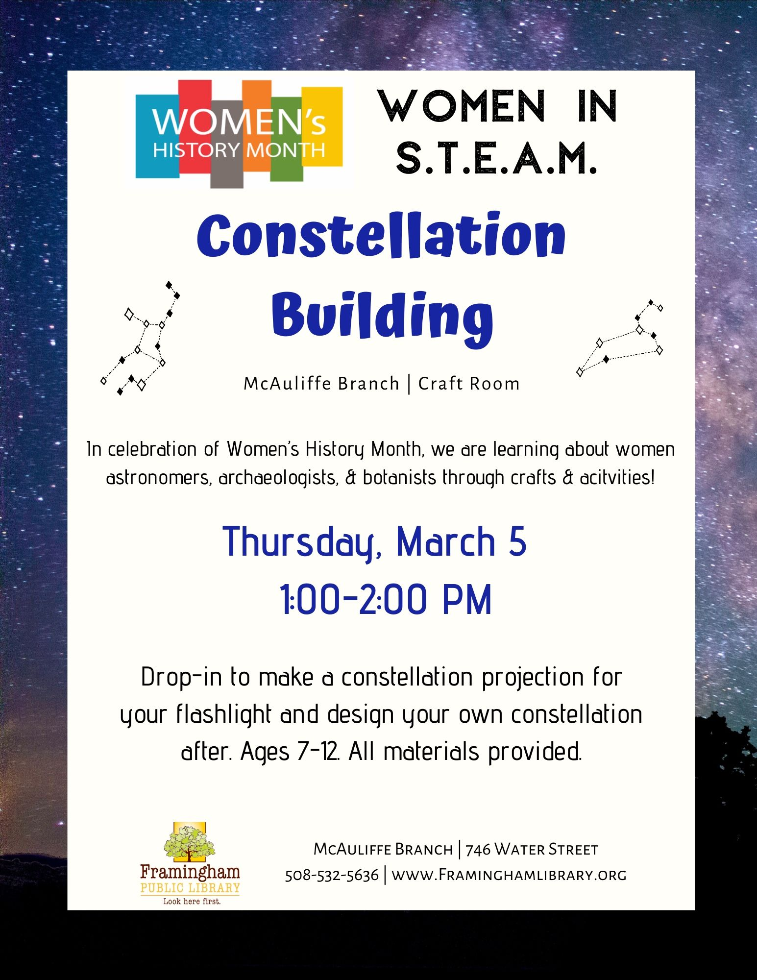 Women in STEAM: Constellation Building thumbnail Photo