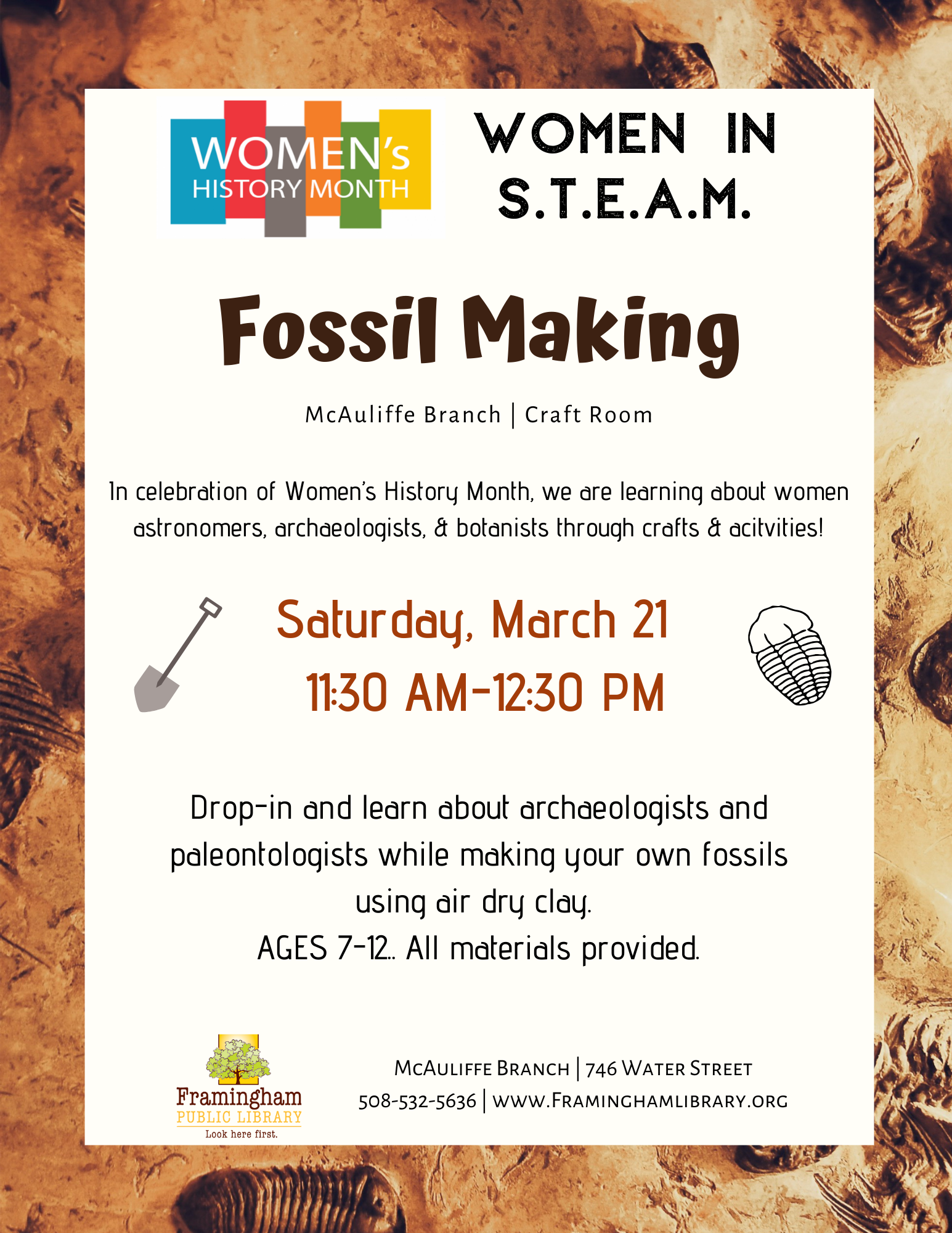 Women in STEAM: Fossil Making thumbnail Photo