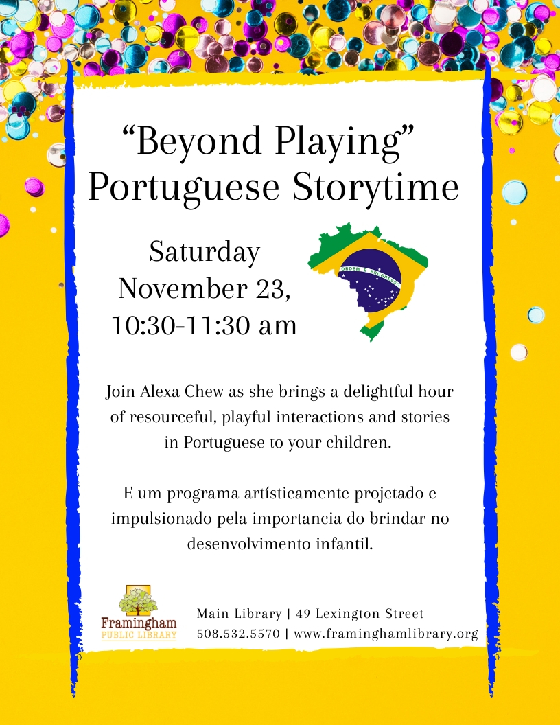 """Beyond Playing"" Portuguese Storytime thumbnail Photo"