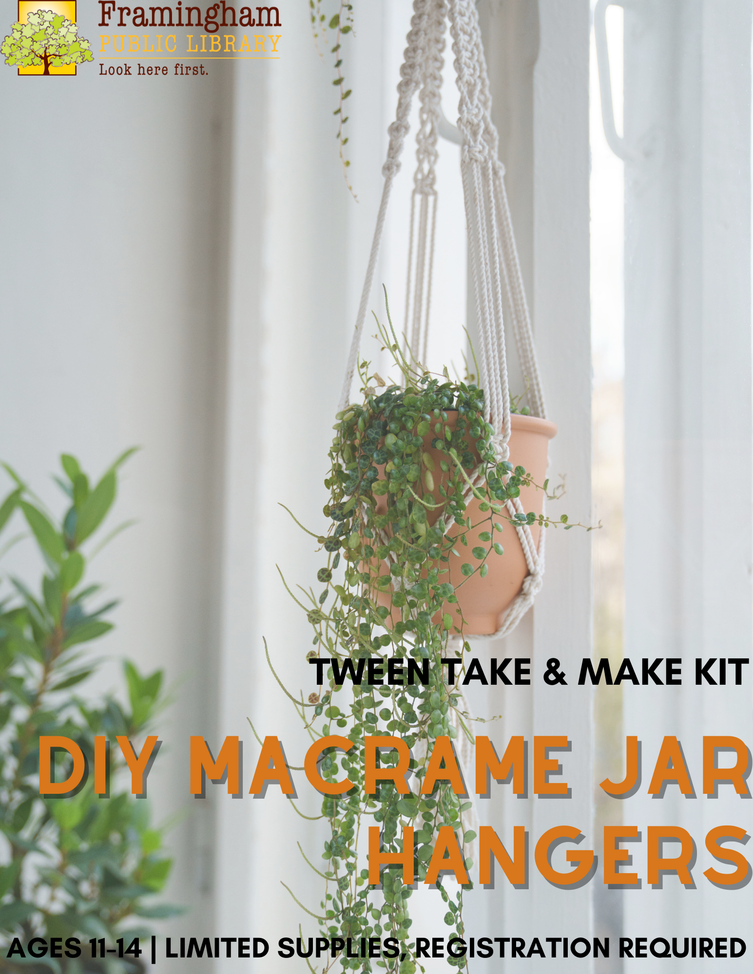 ALL KITS RESERVED: Tween Take & Make Kit: Macrame Jar Hangers thumbnail Photo