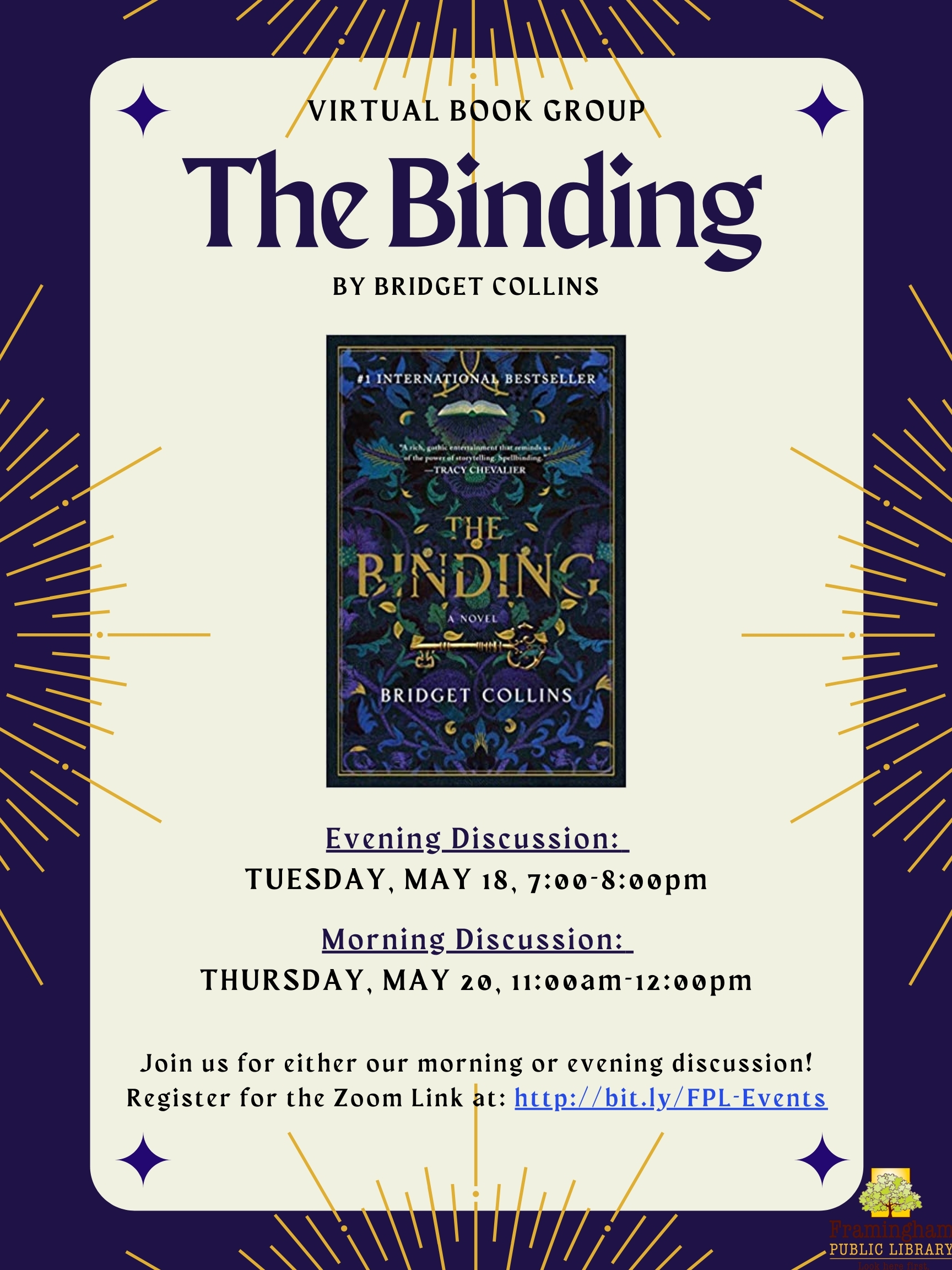 "Book Discussion: ""The Binding"" by Bridget Collins thumbnail Photo"
