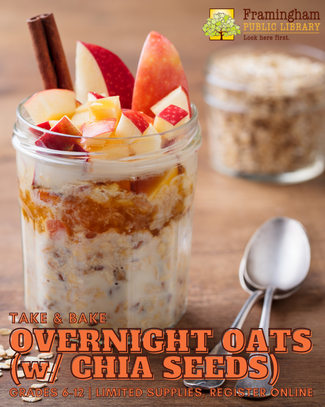 Overnight Oats (w/ Chia Seeds!) Take & Make Meal thumbnail Photo
