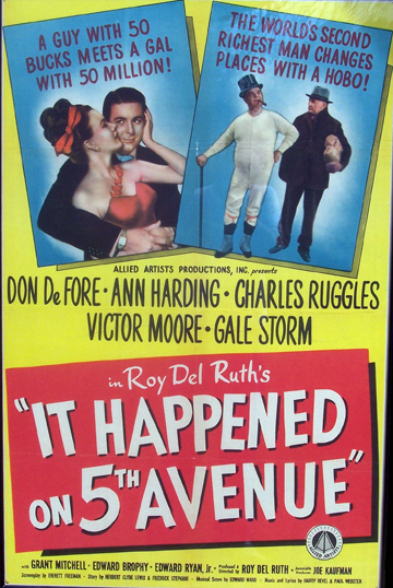 McAuliffe Matinee: It Happened on 5th Avenue thumbnail Photo