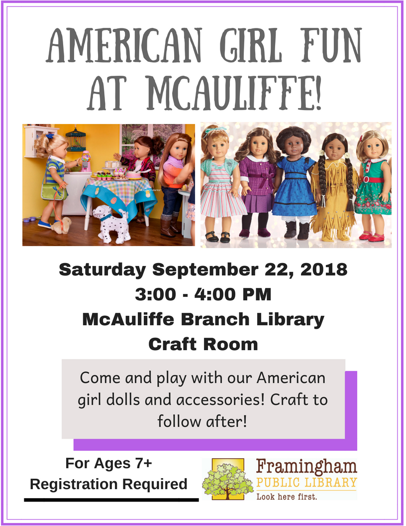 American Girl Fun at McAuliffe Library thumbnail Photo