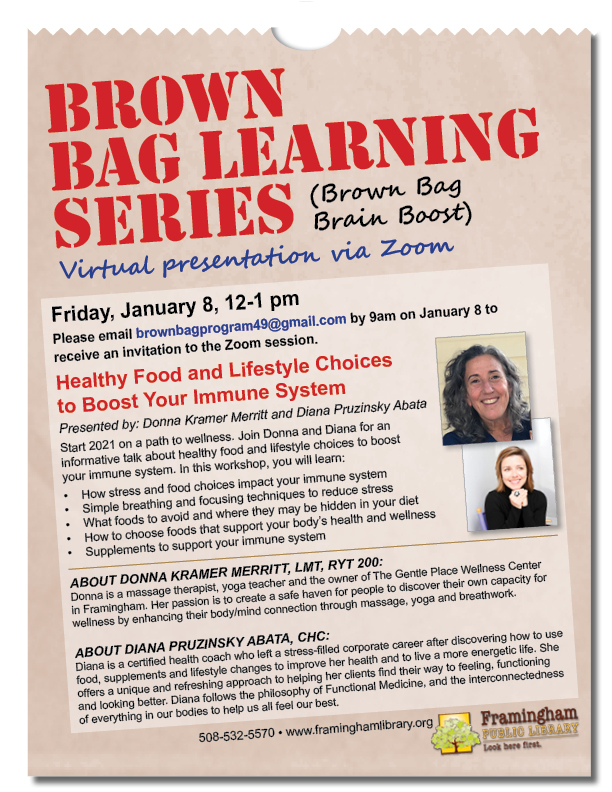 Brown Bag Learning Series:  Healthy Food and Lifestyle Choices to Boost Your Immune System thumbnail Photo