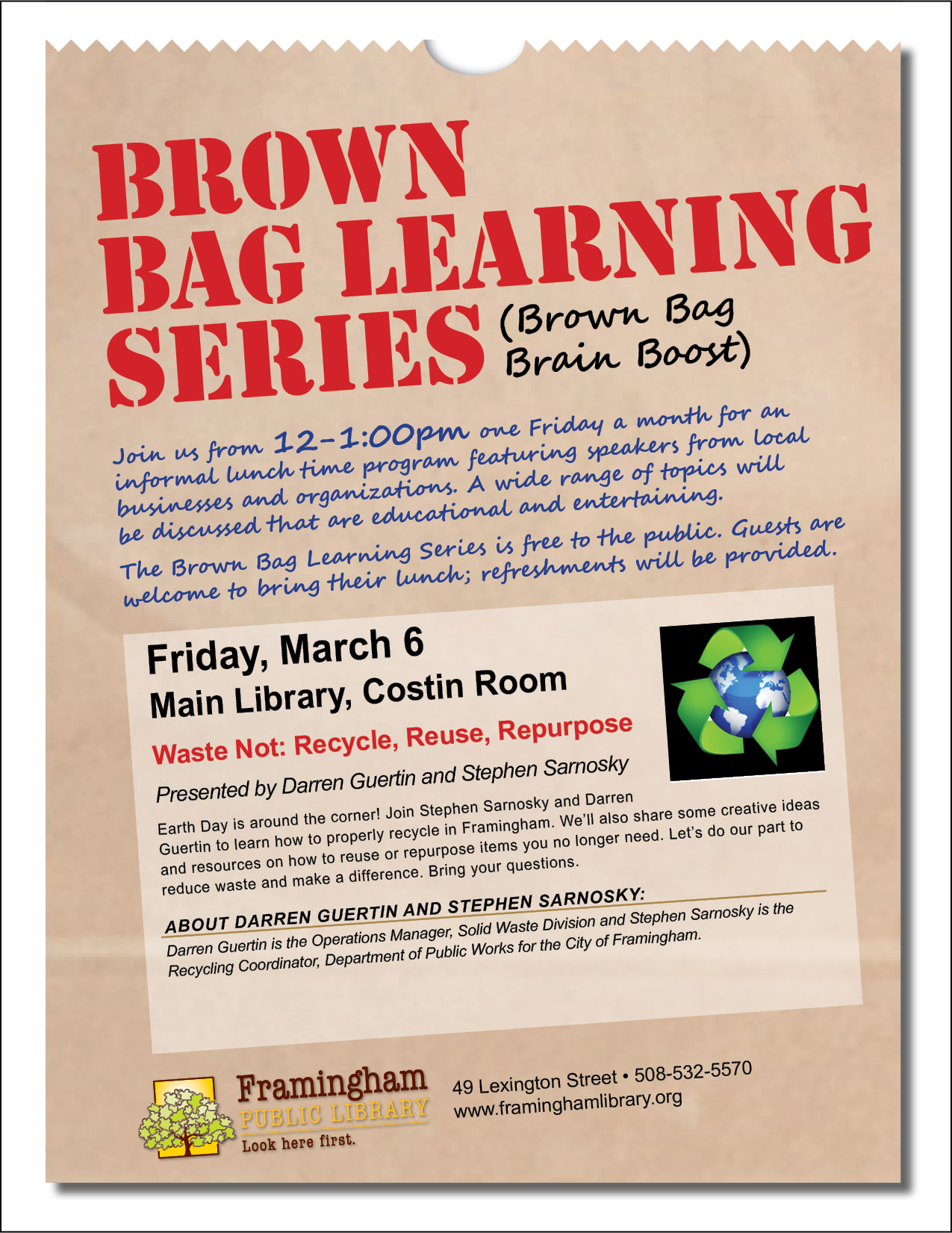 Brown Bag Learning Series: All You Wanted to Know About Recycling thumbnail Photo