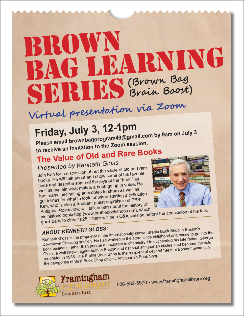 Brown Bag Learning Series: The Value of Old and Rare Books thumbnail Photo