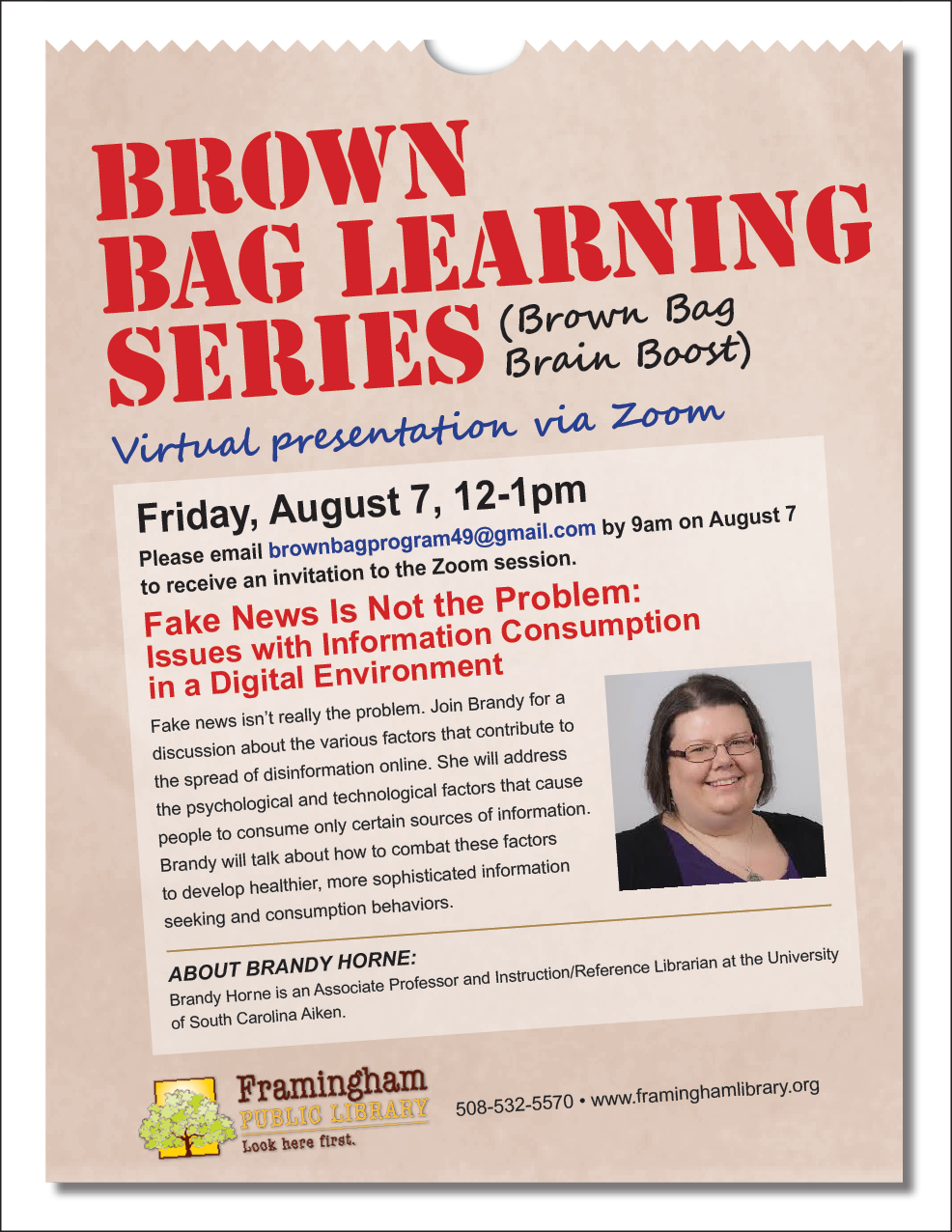 Brown Bag Learning Series: Fake News Is Not the Problem thumbnail Photo