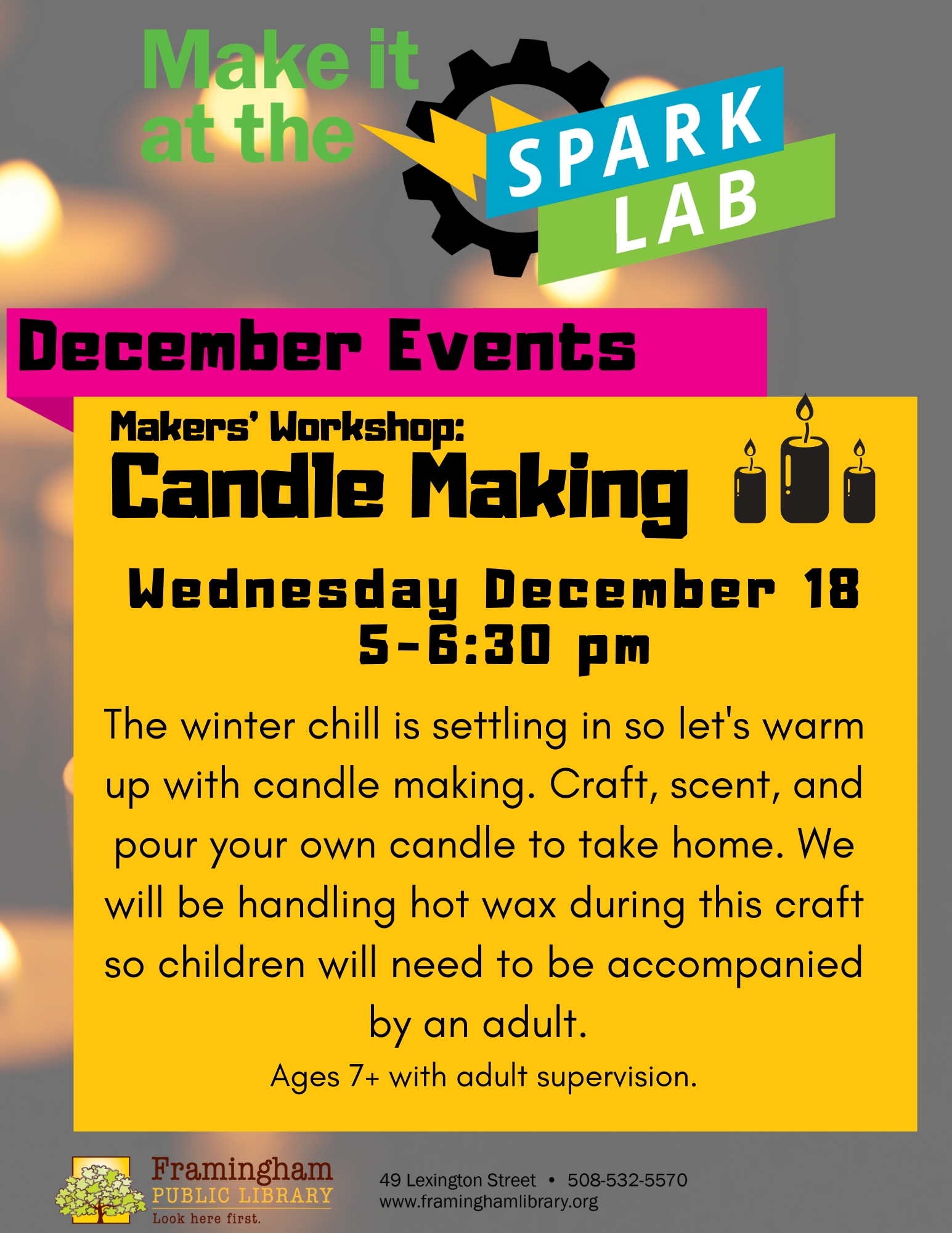 Maker's Workshop: Candle Making thumbnail Photo