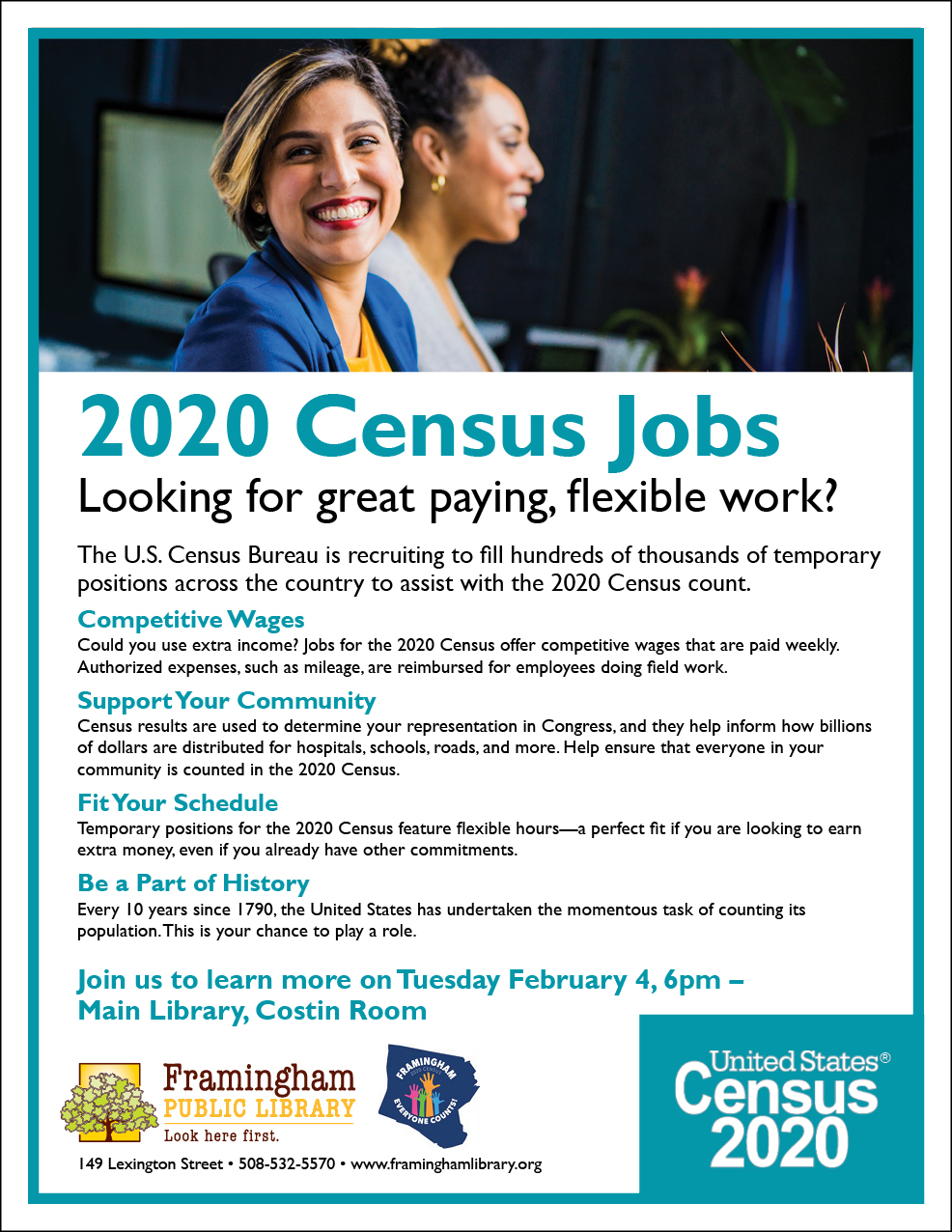 Get a Job with the 2020 Census: Information Session thumbnail Photo