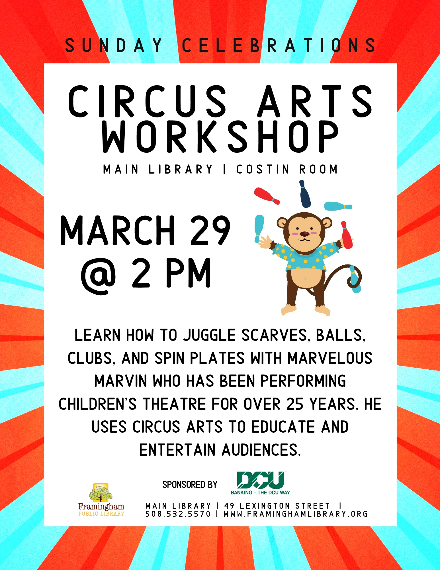 Sunday Celebrations: Circus Arts Workshop thumbnail Photo