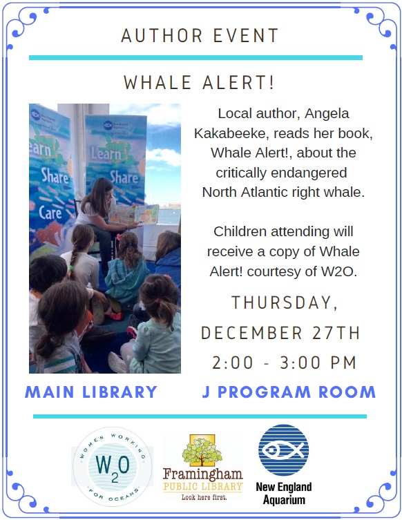 Whale Alert! Reading by local author Angela Kakabeeke thumbnail Photo