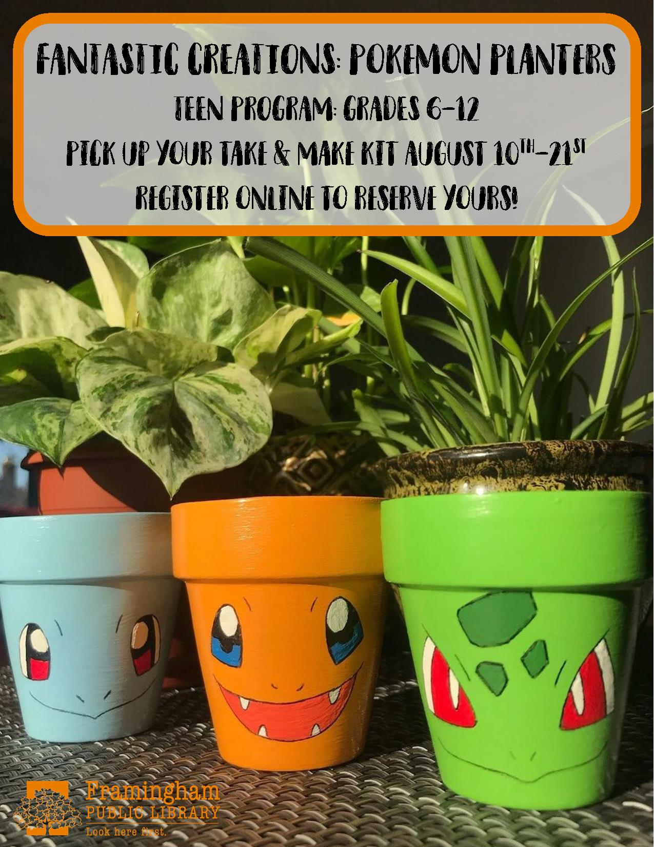 Fantastic Creations Take & Make Craft: Pokemon Planters thumbnail Photo