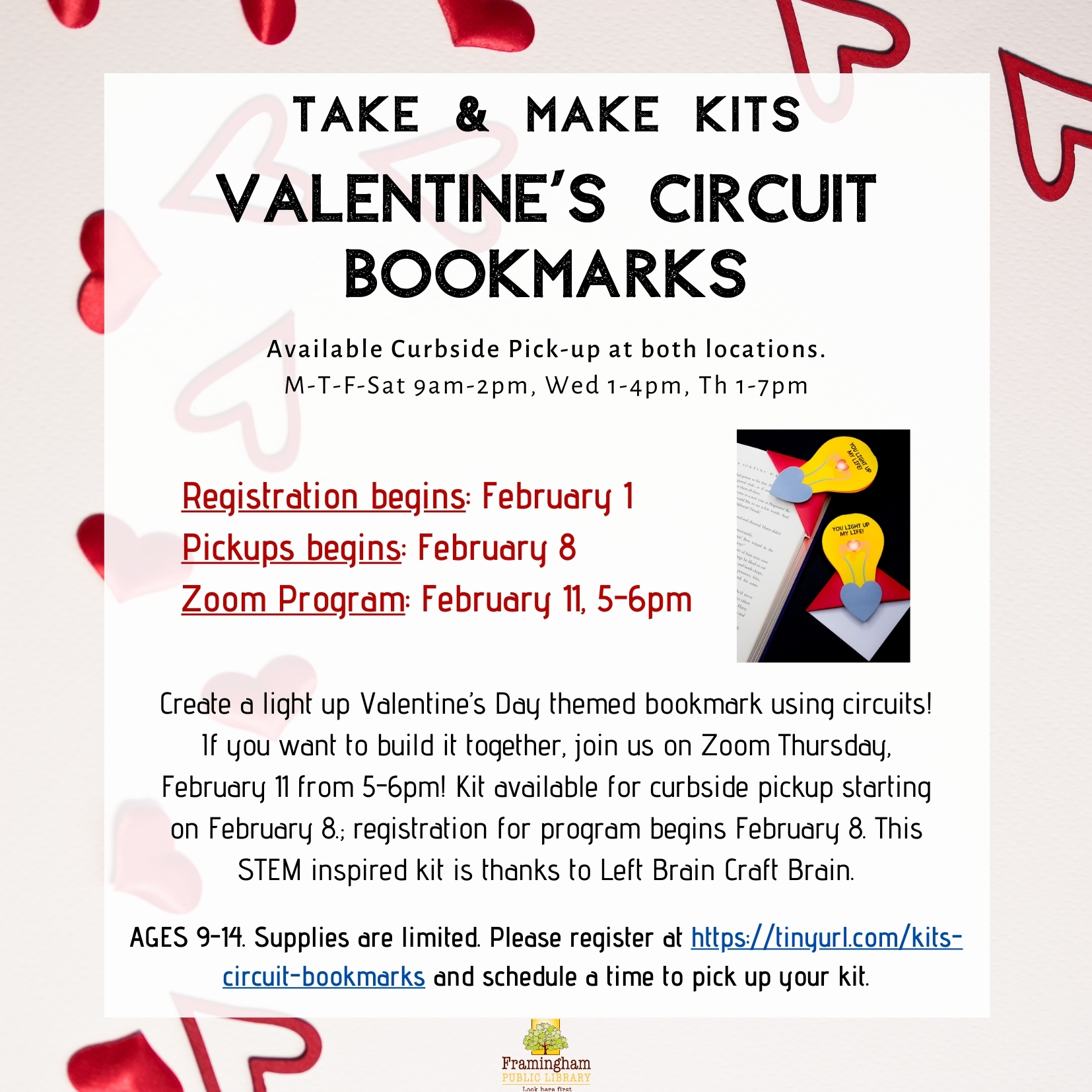 Take & Make Kit: STEM Valentine's Circuit Bookmarks thumbnail Photo