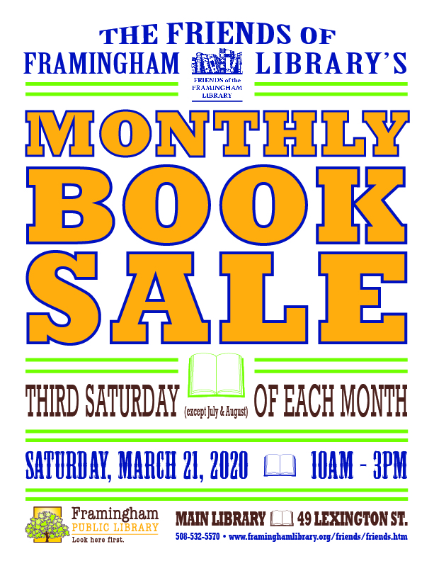 Friends Monthly Book Sale: CANCELLED thumbnail Photo