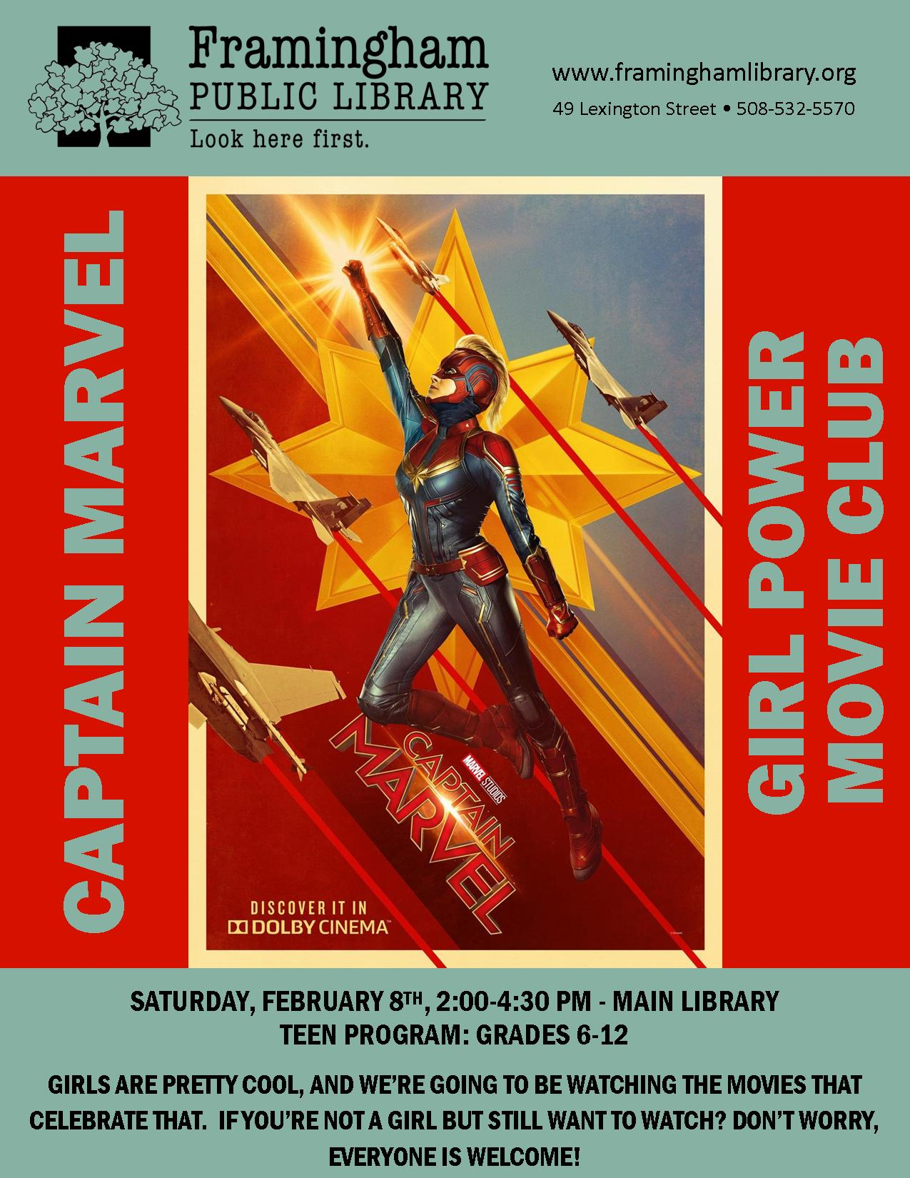 Girl Power Movie Club: Captain Marvel thumbnail Photo