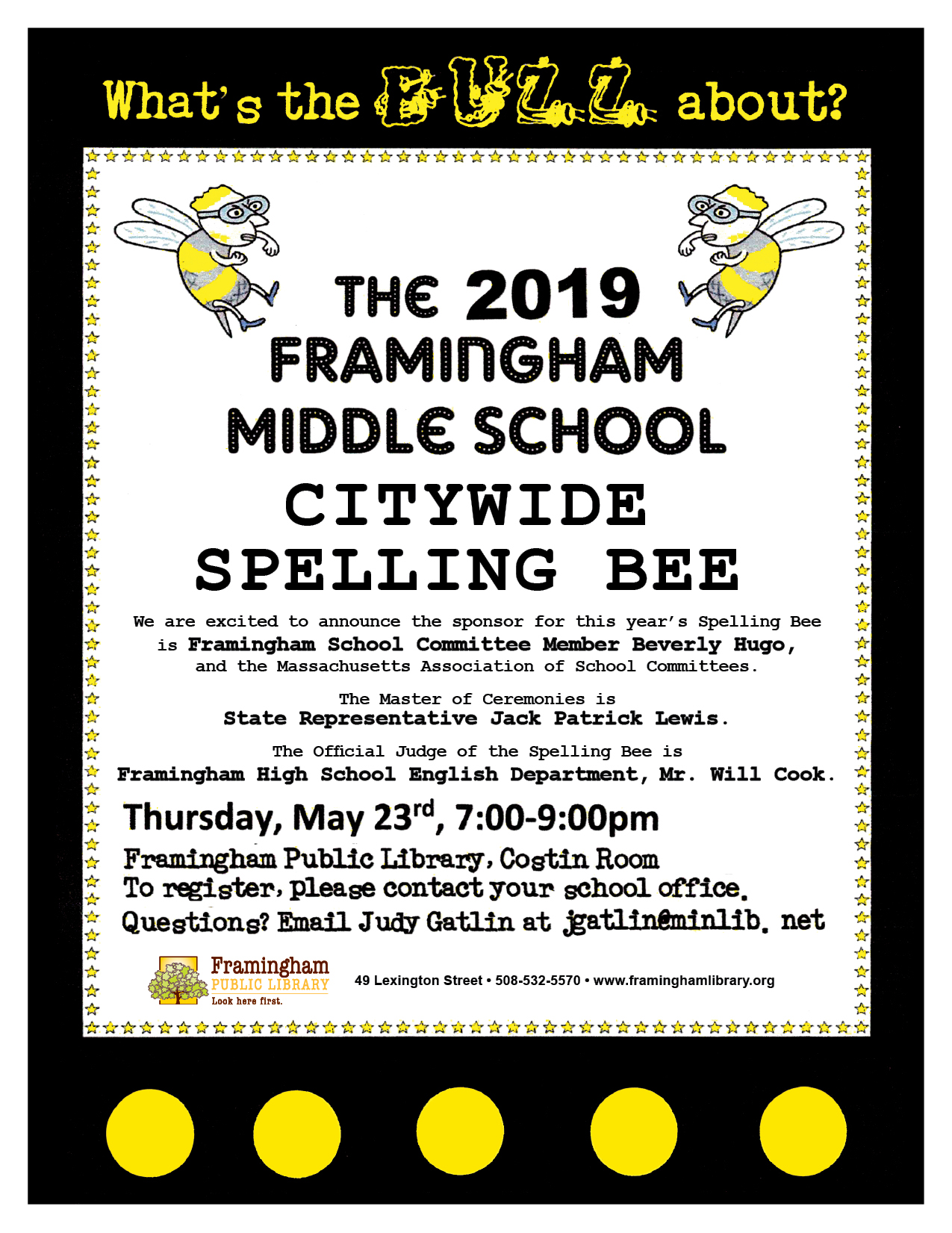 What's All the Buzz About? 6th Annual Middle School Spelling Bee thumbnail Photo