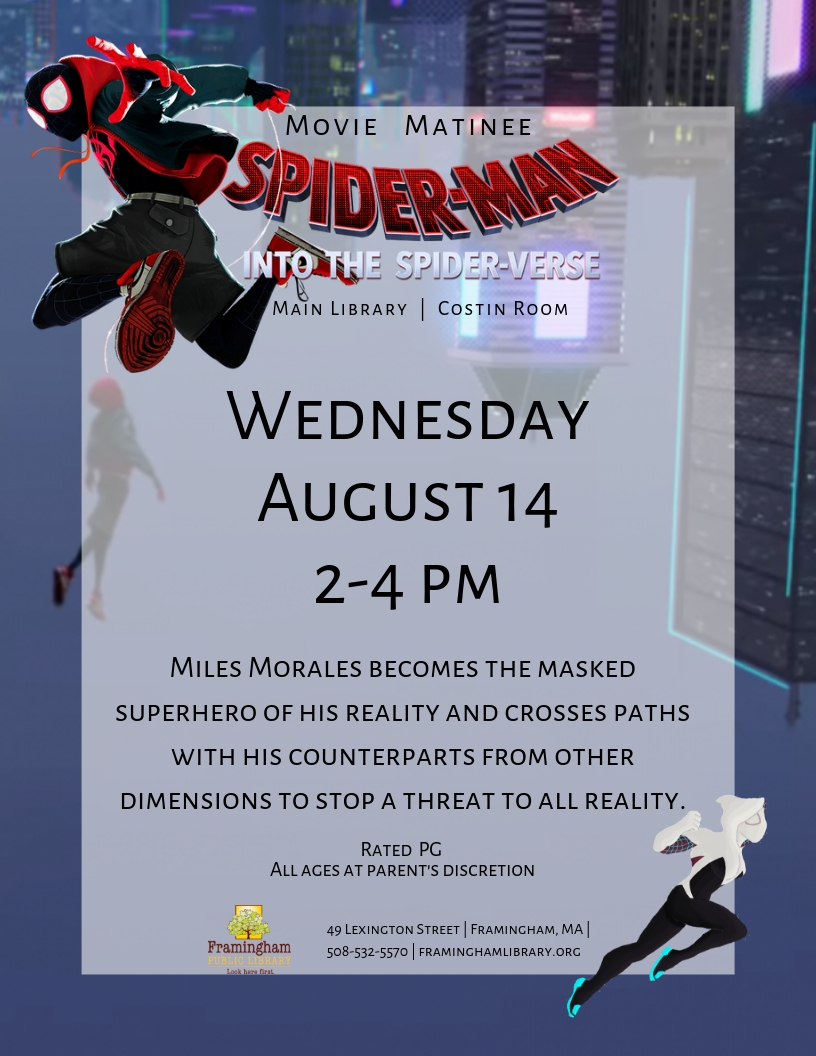 Movie Matinee: Spider-Man Into the Spider-verse thumbnail Photo
