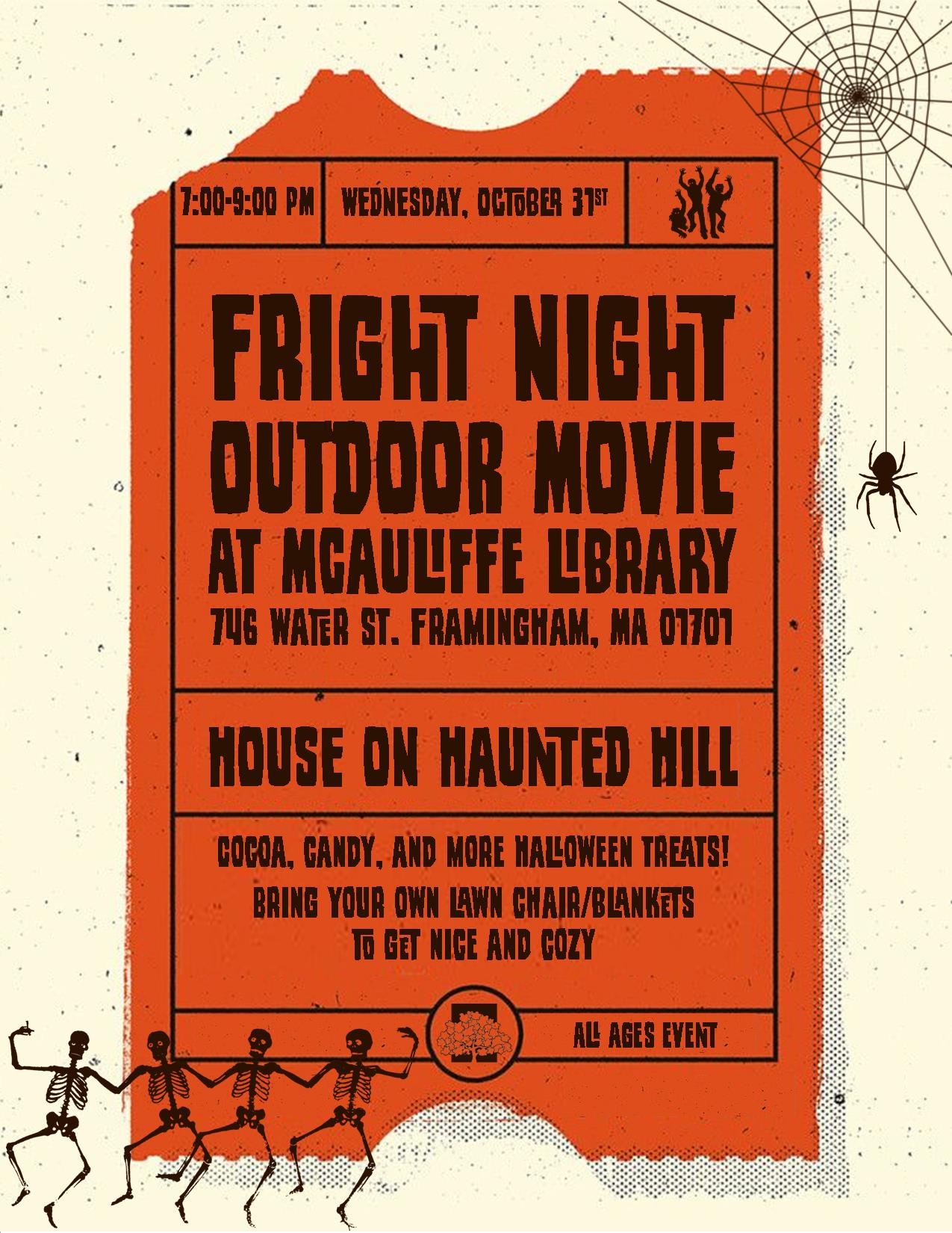 Fright Night Outdoor Movie: House on Haunted Hill thumbnail Photo