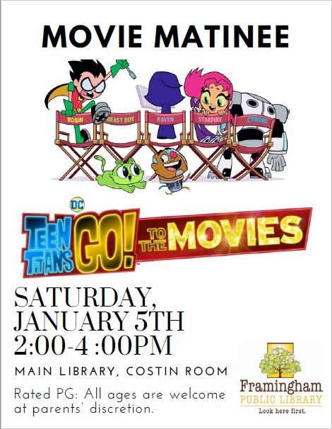 Movie Matinee: Teen Titans Go! To the Movies thumbnail Photo