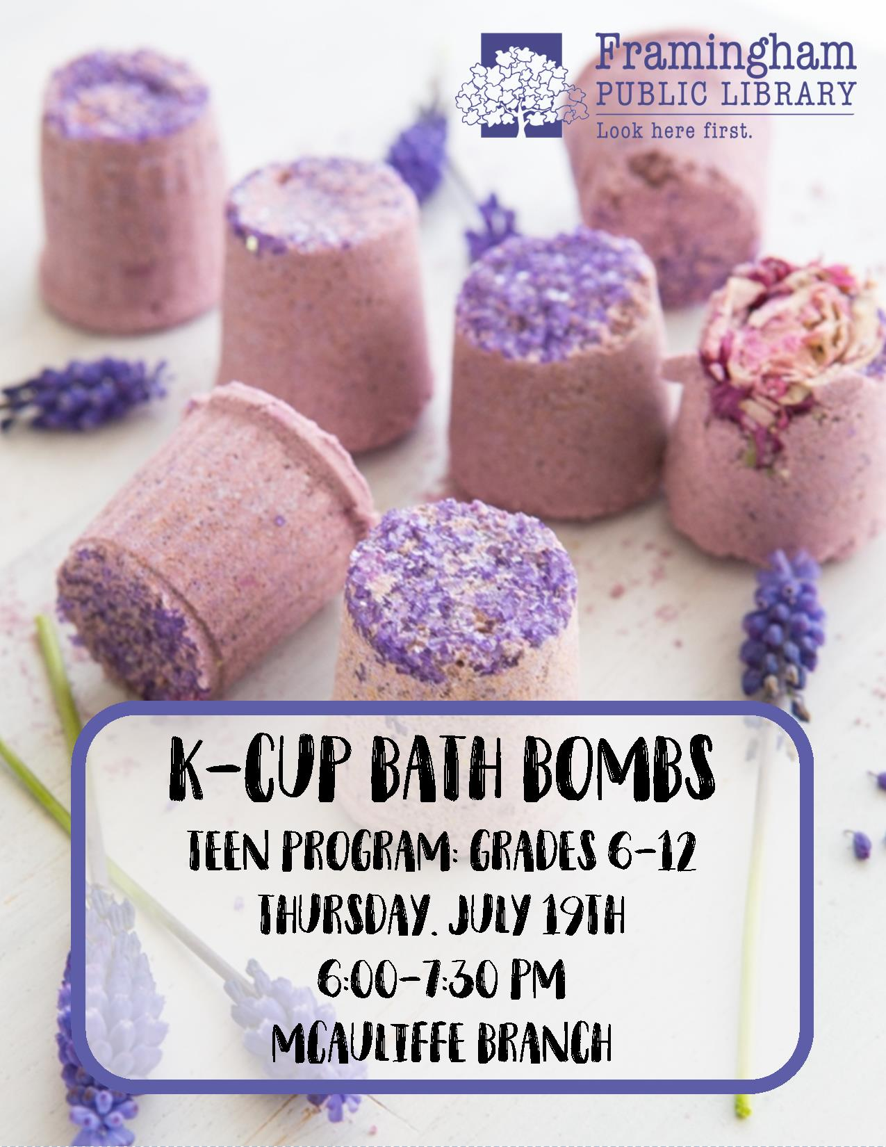 Teen Summer: K-Cup Bath Bombs thumbnail Photo